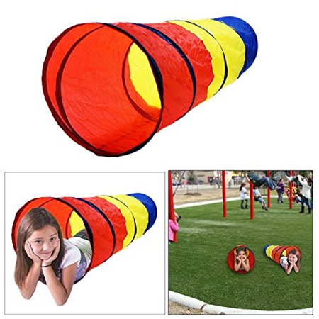 Dazzling Toys 6-feet Play Tunnel Toy Tent Child Kids Pop up Discovery Tube Playtent