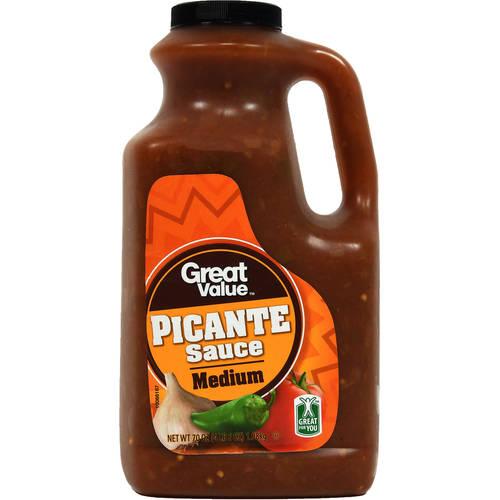Great Value Medium Picante Sauce, 70 oz