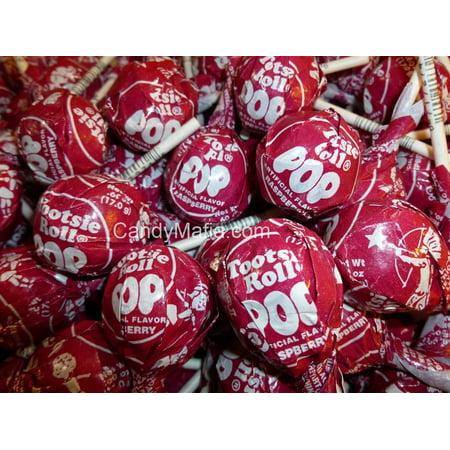Raspberry Pop (Red Raspberry Tootsie Pops 30 Pops )