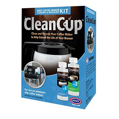 Clean Cup Drip Coffee Maker Cleaning and Descaling Kit, Blue