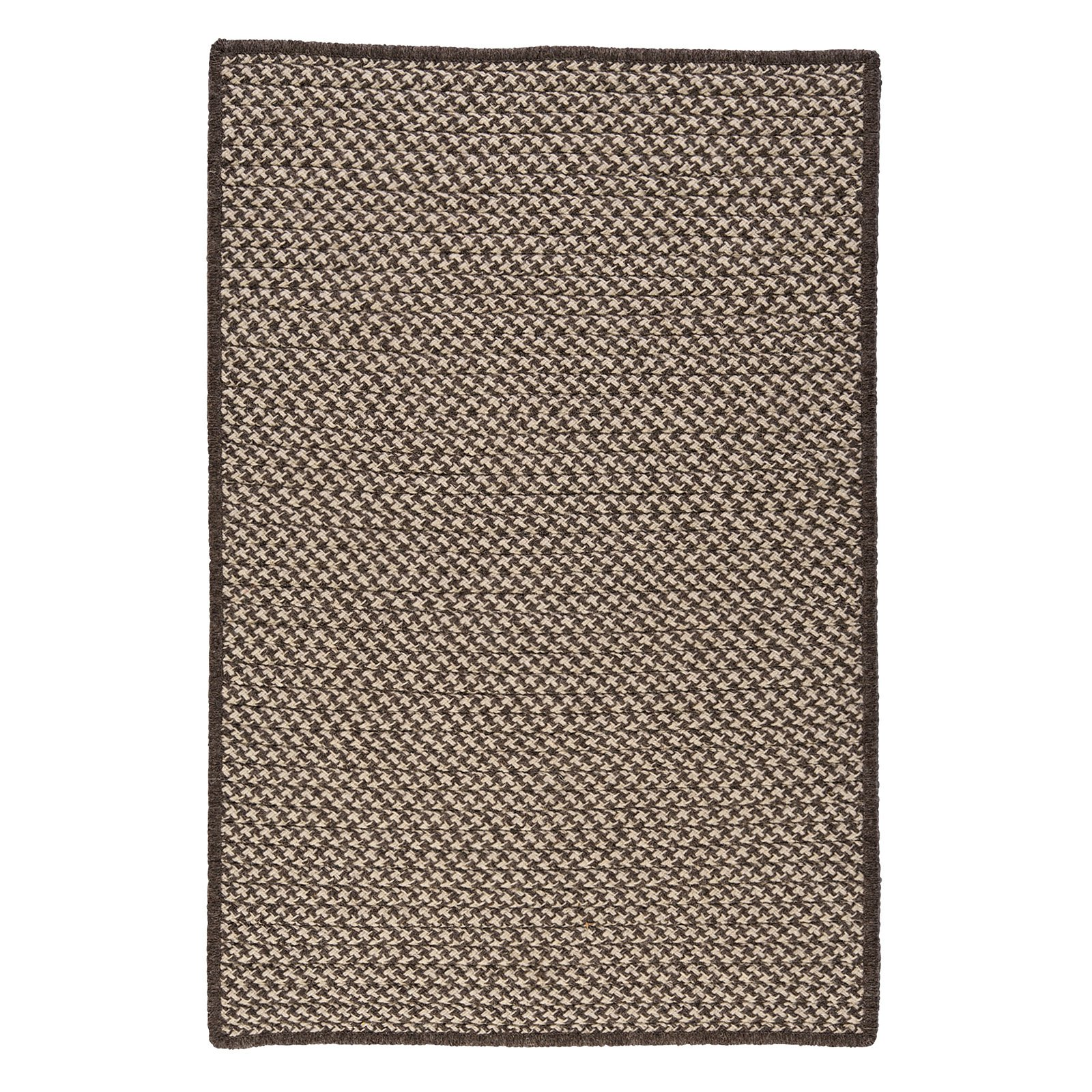 Colonial Mills Natural Wool Houndstooth Braided Area Rug