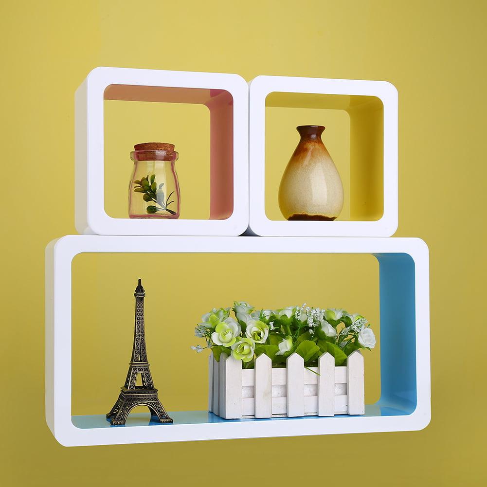 Hilitand Cube Wall Storage Shelves 3 Colors Home Diy Decorative Wall