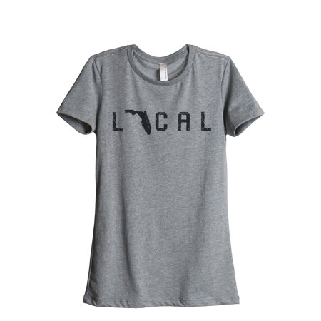 Thread Tank Local Florida State Women's Relaxed Crewneck T-Shirt Tee Heather Grey - Florida State Halloween Party