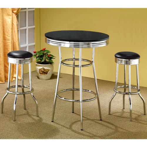 A Line Furniture Hackensack Nostalgic Retro Chrome Bar Set