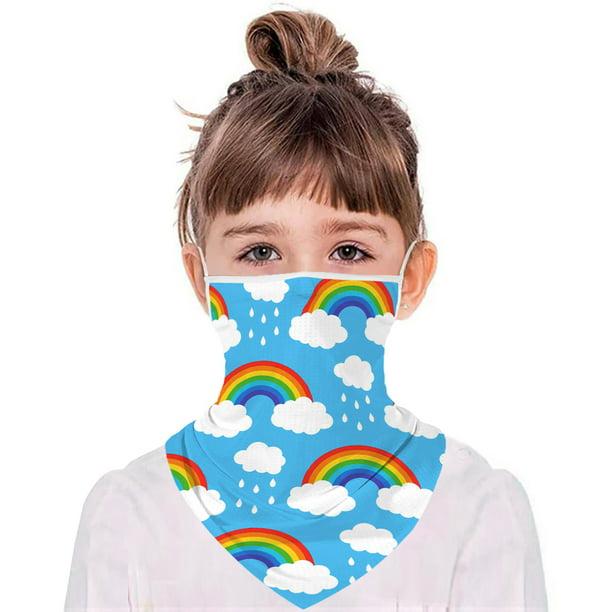 Face Gaiter for Kids Summer Face Covering Neck Gaiter Kid Face Scarf Children Balaclava Bandana Color 23