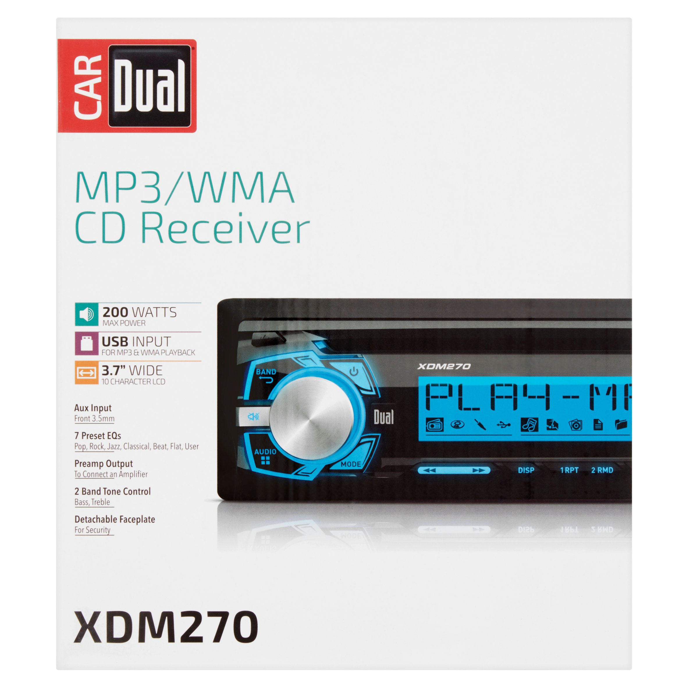 Car Dual XDM270 MP3/WMA CD Receiver