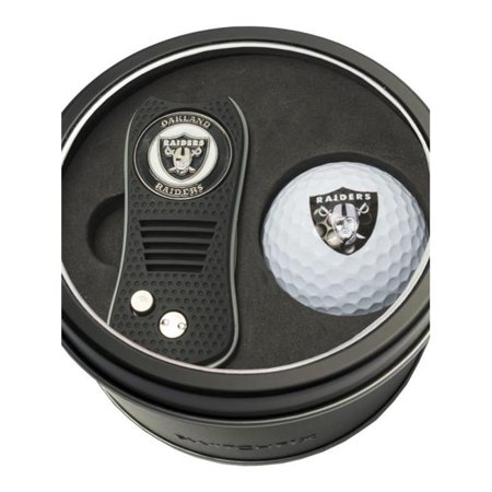 Team Golf 637556321565 Oakland Raiders Tin Set - Switchfix, Golf Ball - image 1 of 1