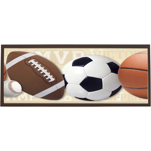 Illumalite Designs Mixed Sports Ball Framed Graphic Art