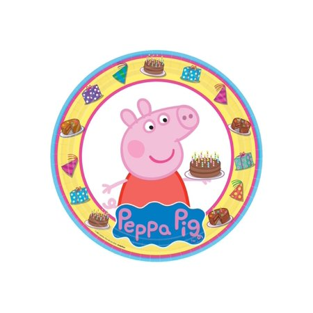 Peppa Pig Edible Icing Image for 1/4 sheet - Peppa Pig Cake Toppers