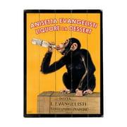 Artehouse LLC Anisettta Evangelisti Planked Vintage Advertisement Plaque