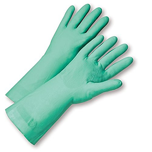 WEST CHESTER 33418/XXL 15MIL FLOCK LINED GREENNITRILE  BULK PA