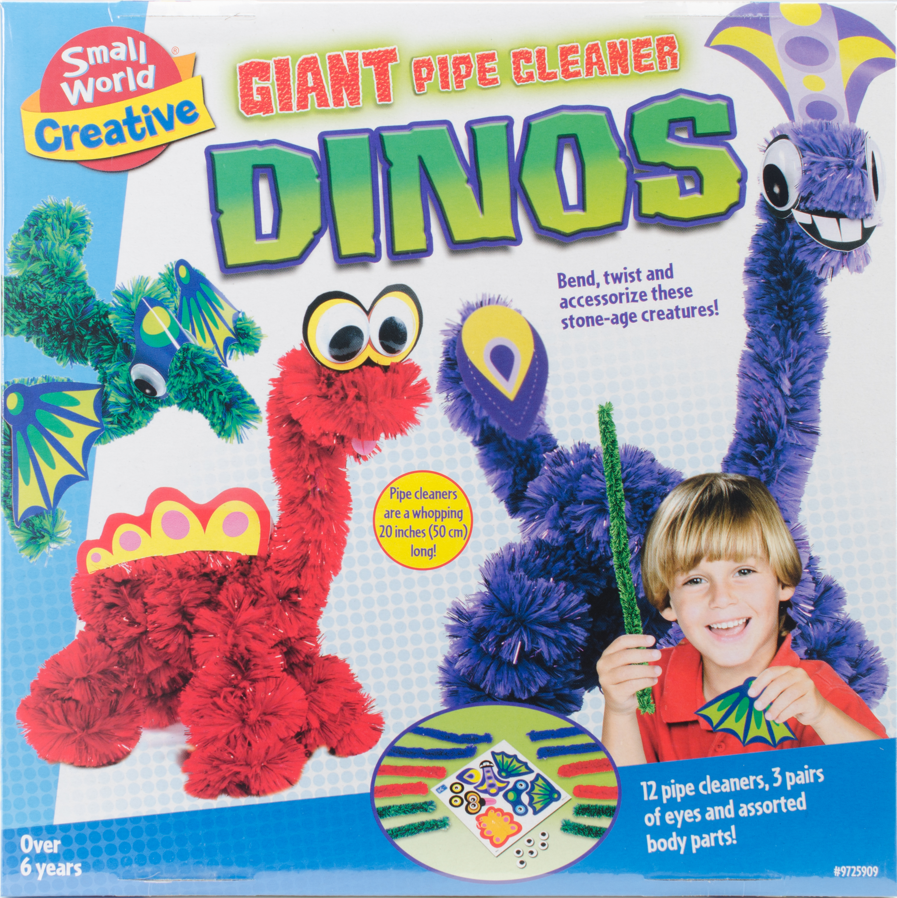 Giant Pipe Cleaners Dinos