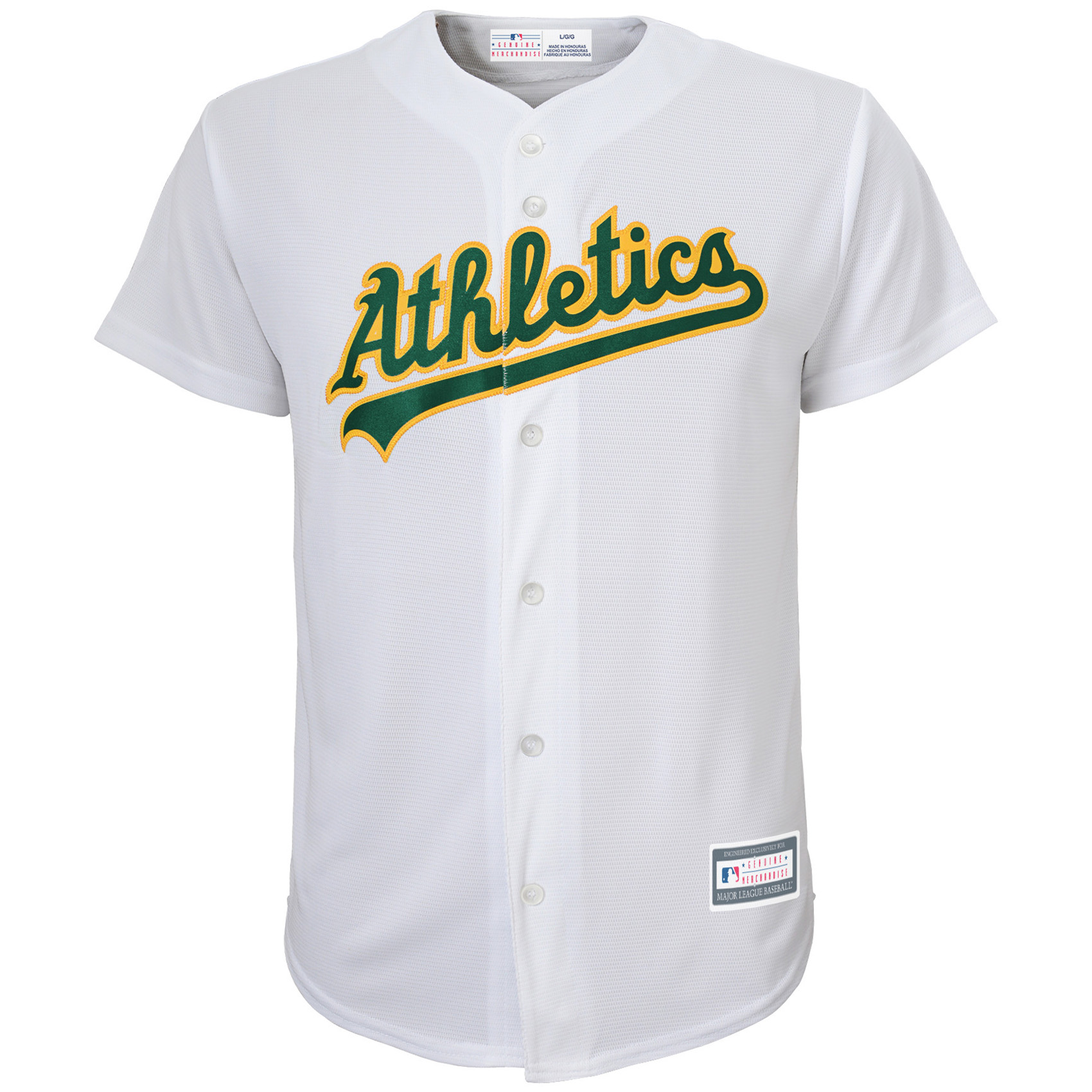Oakland Athletics Youth Replica Blank Team Jersey - White