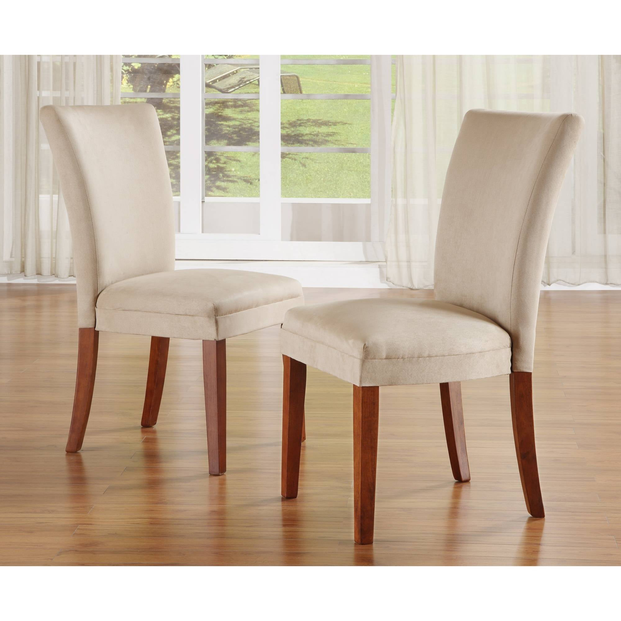 Set of 2 Parson Dining Chairs Peat Walmart