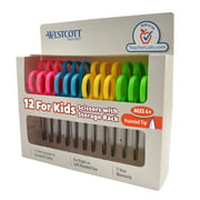"""Westcott Kids Scissors, 5"""", Pointed, Colors Choice Will Vary, 12-Count"""