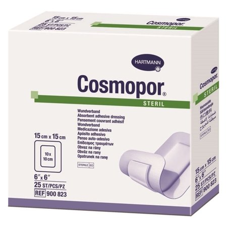 Cosmopor Adhesive Wound Dressings, 6 x 6 Inch - Box of 25