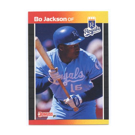 1989 Donruss #208 Bo Jackson Kansas City Royals Rookie Card Autographed Bo Jackson Photograph