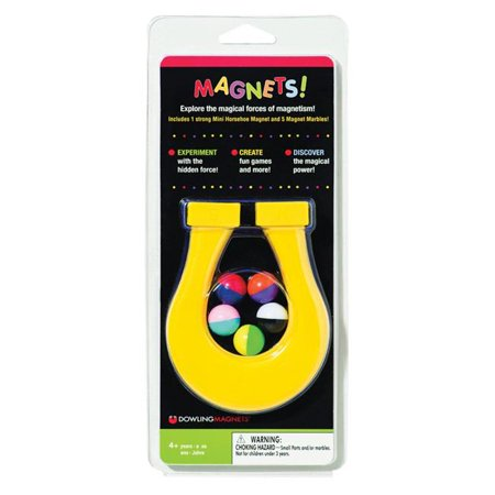 Dowling Magnets DO-736609BN 4.5 in. Mini Horseshoe Magnet & 5 Magnet Marbles, Assortedcolor - Pack of 6 - image 1 of 1