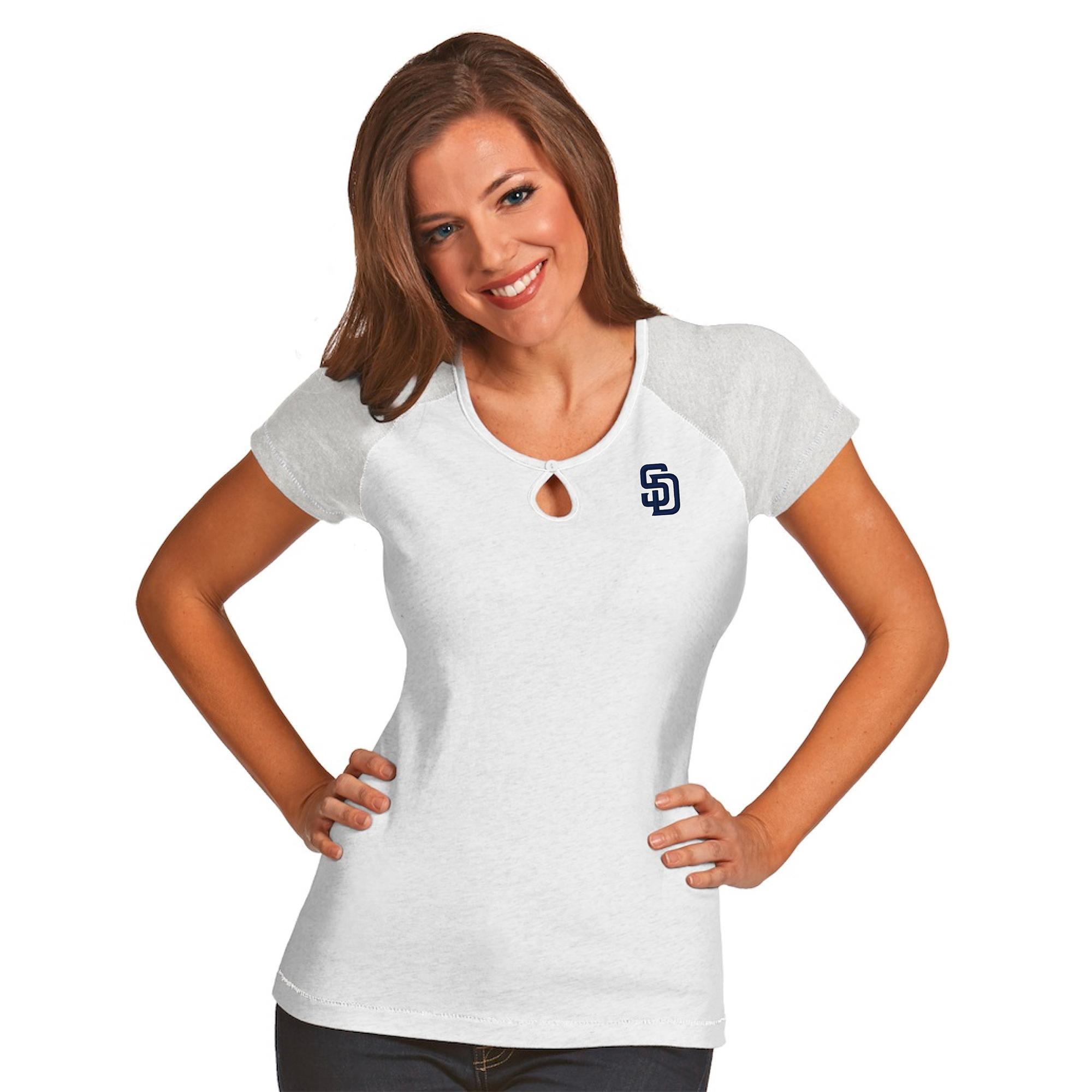 San Diego Padres Antigua Women's MLB Crush T-Shirt - White/Gray