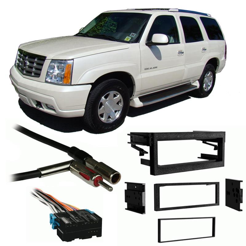 Fits Cadillac Escalade 99 02 Single Din Stereo Harness Radio Install Dash Kit Walmart Com Walmart Com