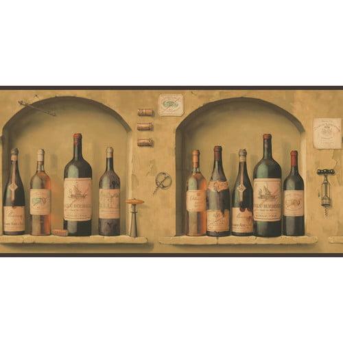 York Wallcoverings Portfolio II The Wine is Fine 15' x 10.25'' Scenic Border Wallpaper