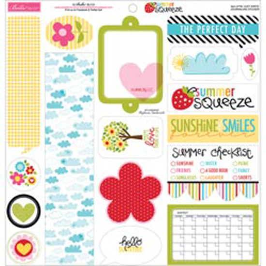 "Just Write Journaling - Summer Squeeze Cardstock Stickers 12""X12"""