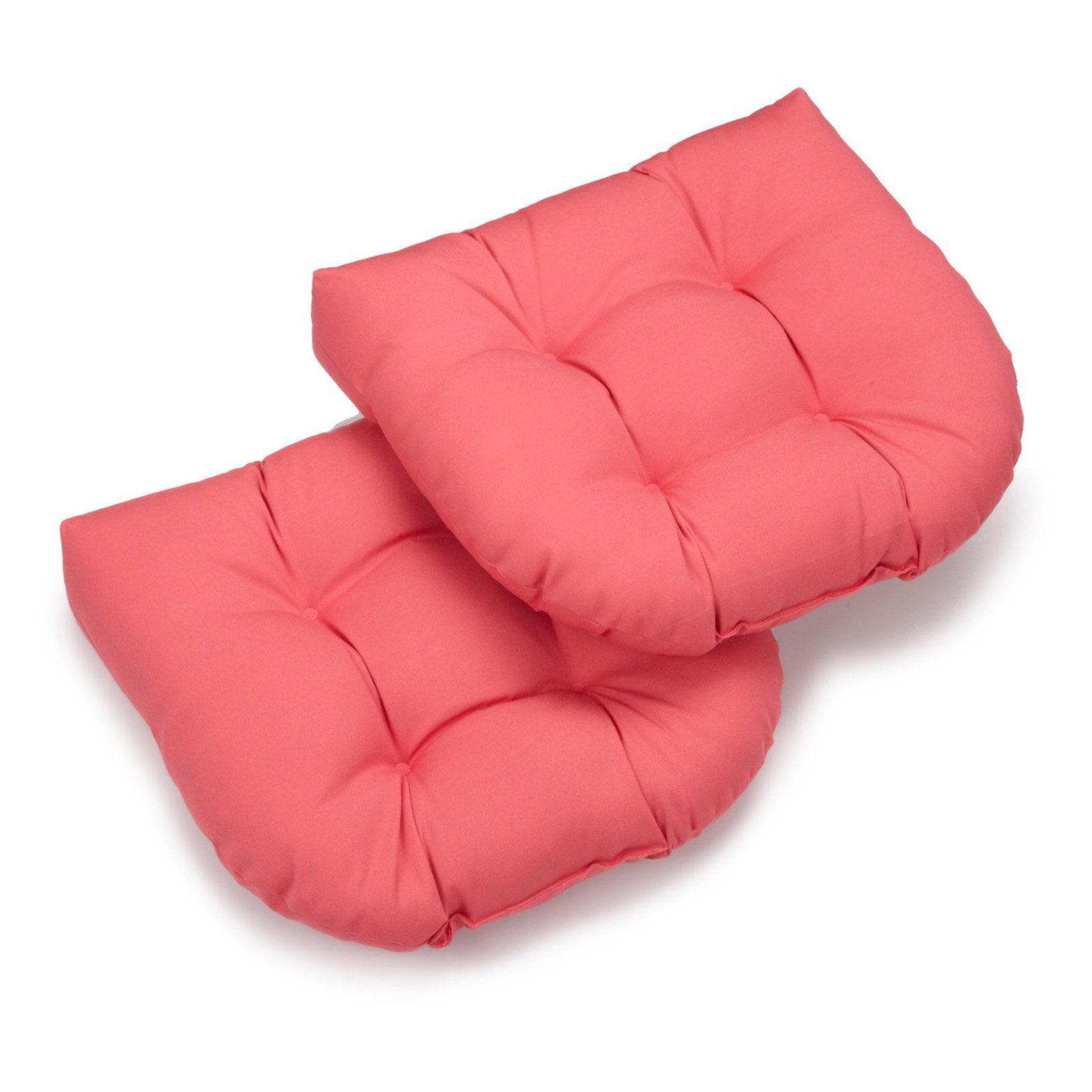 Blazing Needles Twill U-Shaped Indoor Chair Cushion - Set of 2