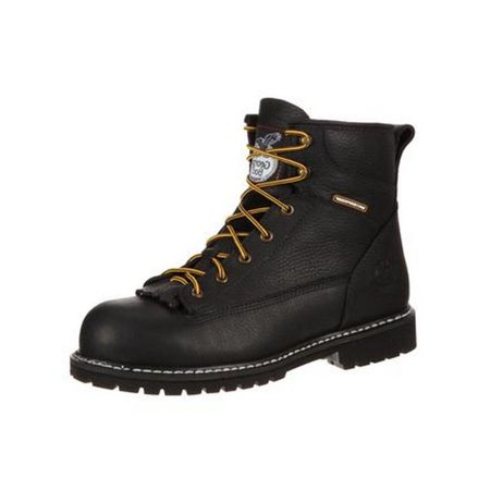 Georgia Boot Work Mens ST Waterproof Lace To Toe Leather Black GB00002