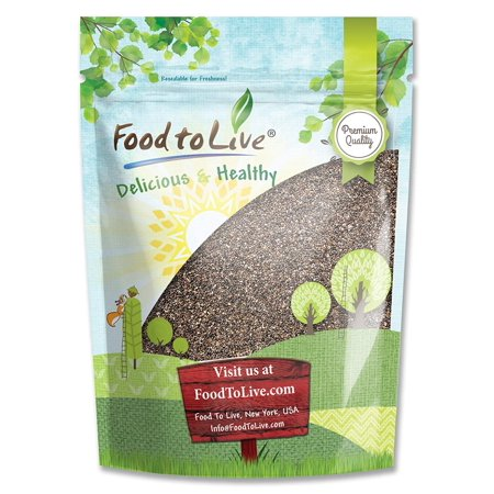 Chia Seeds, 8 Ounces  - Kosher, Raw, Vegan - by Food to Live