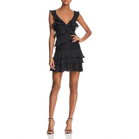 BARDOT $119 NEW 14588 Lace-Inset Ruffled Womens Dress S