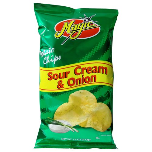 Magic Sour Cream & Onion Potato Chips, 7.5 oz
