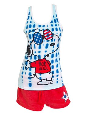 Snoopy America Ladies Pajama Set-Small