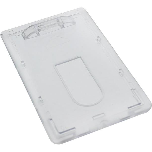 3 pack  slim heavy duty badge holders  hard plastic