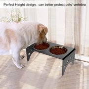 Fdit Elevated Acrylic Stand 2 Bowls Raised Pet Feeder for Cats and Dogs Food Water, Raised Pet Feeder,Elevated Bowls