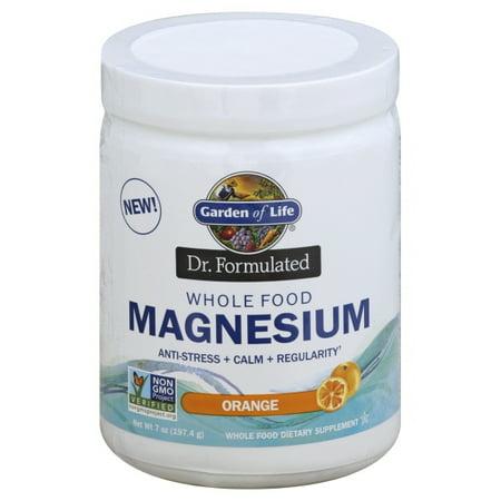 Garden of Life, Dr. Formulated, Whole Food Magnesium Powder, Orange, 7 oz (197.4