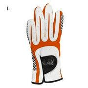 1Pc Golf Glove Left Hand Men Anti-slip Microfiber Elastic Breathable Mitten for Outdoor Sport, L
