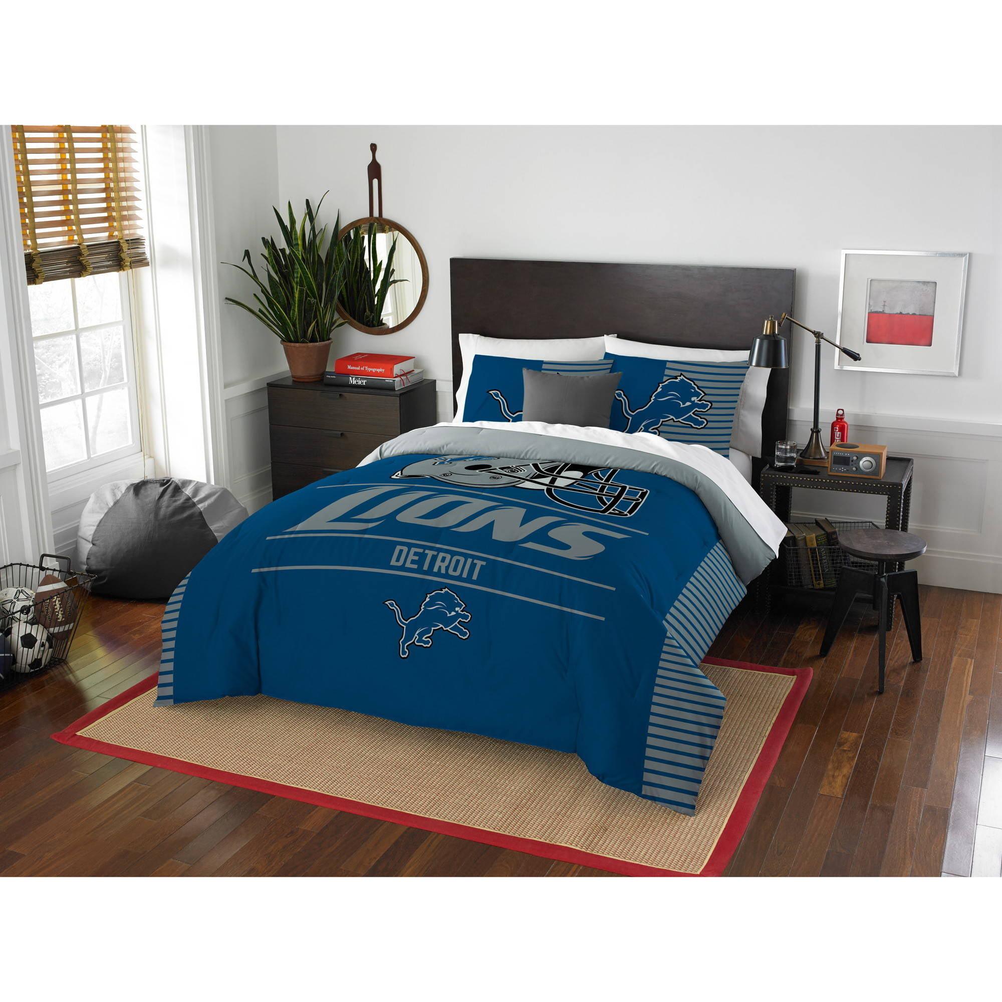 "NFL Detroit Lions ""Draft"" Bedding Comforter Set by The Northwest Company"