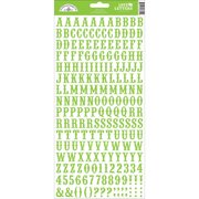 Love Letters Cardstock Alphabet Stickers-Limeade