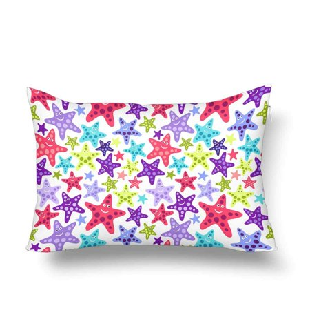 GCKG Seamless Pattern Funny Starfishes Sea Ocean Summer Pillow Cases Pillowcase 20x30 inches - image 4 of 4
