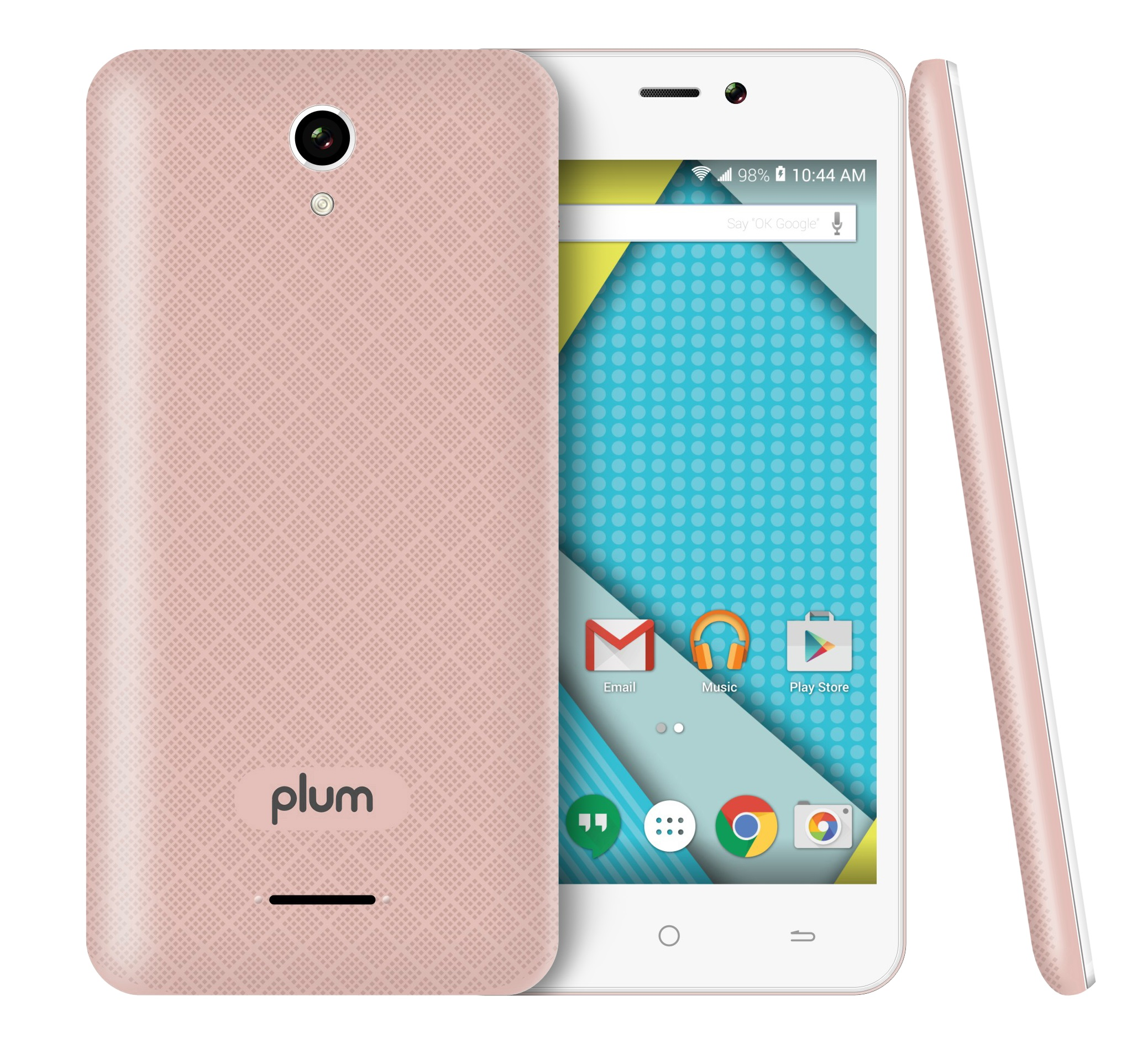 Plum - Unlocked Smart Cell Phone 4G GSM Android 8GB Memory Dual Camera Quad Core - Z515 Rose Gold