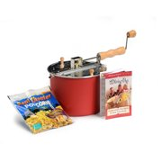 Wabash Valley Farms 6-Quart Whirley Pop Stovetop Popcorn Popper (Barn Red)