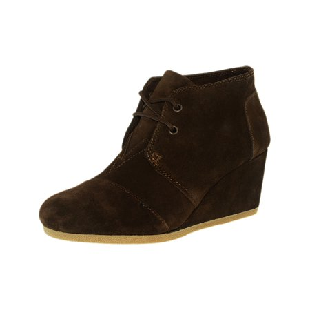 90c8512e083c Toms - Toms Women s Desert Wedge Suede Chocolate Brown Ankle-High Pump - 6M  - Walmart.com