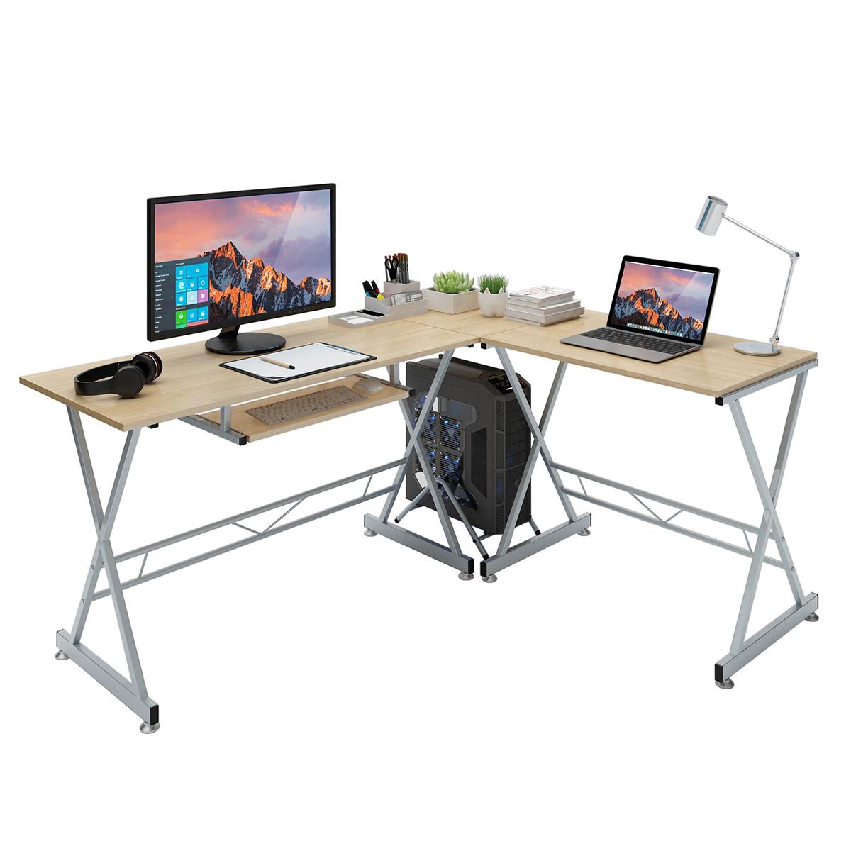 Slypnos L Shaped Corner Computer Desk Pc Gaming Table Laptop Study