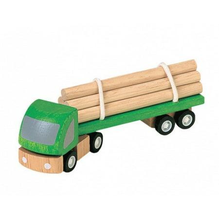 Plan Toys Logging Truck 060051 (Lrg Trunk)