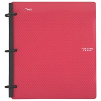 "Five Star Flex 1"" Hybrid NoteBinder, Red (72005)"