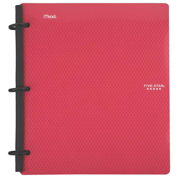"""Five Star Flex 1"""" Hybrid NoteBinder, Red (72005)"""