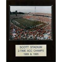 C&I Collectables NCAA Football 12x15 Scott Stadium Stadium Plaque