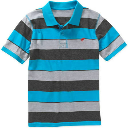 Boys Short Sleeve Stripe Polo