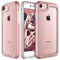 iPhone 7 case, E LV Anti-Scratch [Shock Absorbent] Clear Slim Case Cover for Apple iPhone 7 - [ROSE GOLD]