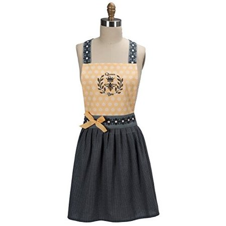 Kay Dee Designs Cotton Girlie Apron 27-Inch Queen Bee